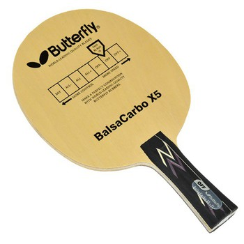 Butterfly Balsa Carbo X5 Pro-Line Table Tennis Racket